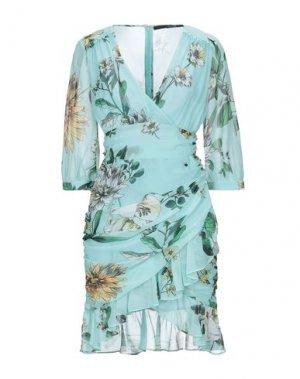 Короткое платье ANNARITA N. Цвет: небесно-голубой