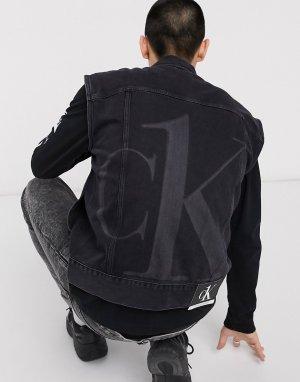 Черный джинсовый жилет oversized CK1 Capsule Calvin Klein Jeans
