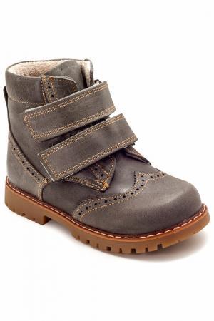 Ботиночки WOOPY. Цвет: серый