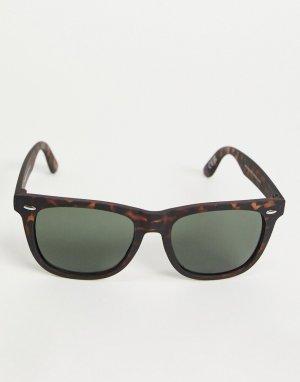 Солнцезащитные очки в стиле ретро коричневой черепаховой оправе -Коричневый цвет New Look