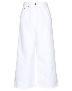 Джинсовые брюки-капри JACQUEMUS. Цвет: белый