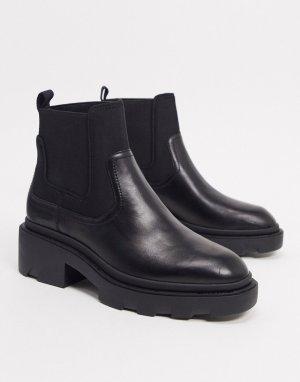 Черные ботинки челси на массивной подошве -Черный Ash