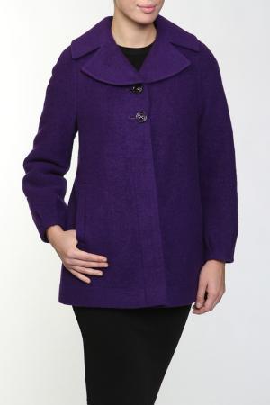 Пальто Амулет. Цвет: фиолетовый