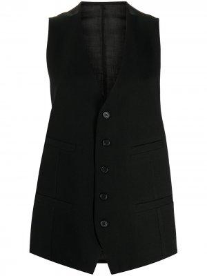 Sheer-panel tailored waistcoat Ann Demeulemeester. Цвет: черный