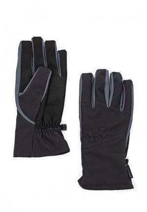 Перчатки Under Armour Mens UA Softshell Glove. Цвет: синий