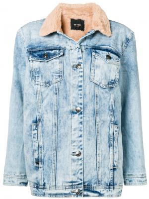 Джинсовая куртка с контрастным воротником Twin-Set. Цвет: синий