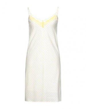 Короткое платье COMPAÑIA FANTASTICA. Цвет: светло-желтый
