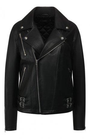 Кожаная куртка Joseph. Цвет: чёрный