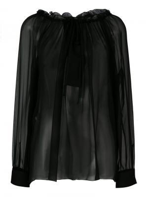 Блузка с кружевной отделкой Alberta Ferretti. Цвет: черный