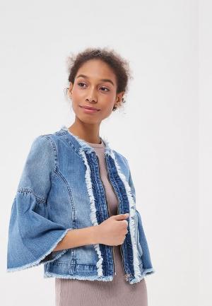 Куртка джинсовая Sisley. Цвет: голубой