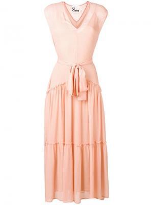 Платье с поясом на завязке 8pm