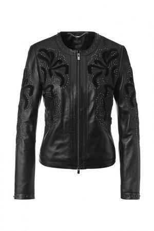 Куртка кожаная Madeleine. Цвет: schwarz