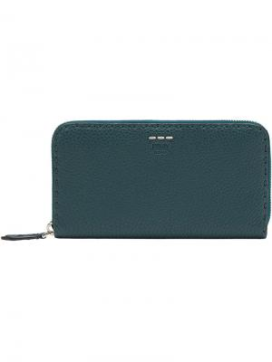 Zip around wallet Fendi. Цвет: зелёный