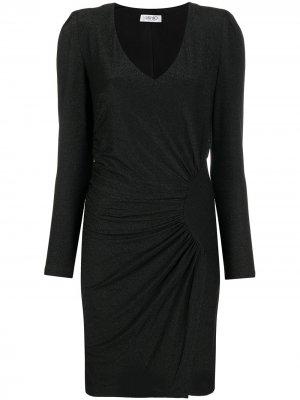 Платье со сборками LIU JO. Цвет: черный
