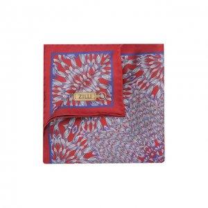 Шелковый платок Zilli. Цвет: красный