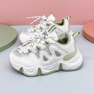 Для мальчиков Кроссовки на массивной подошве сетчатая вставка шнурках SHEIN. Цвет: многоцветный
