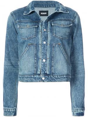 Классическая джинсовая куртка Hudson. Цвет: синий