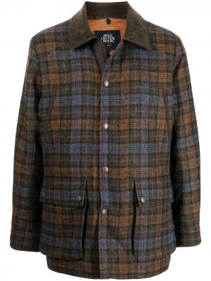 Шерстяной пиджак в клетку Man On The Boon.. Цвет: коричневый