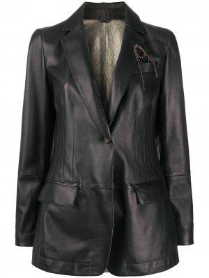 Приталенная куртка Brunello Cucinelli. Цвет: коричневый