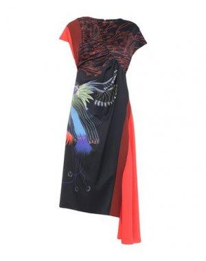Платье длиной 3/4 DRIES VAN NOTEN. Цвет: темно-синий