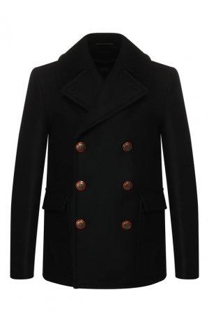 Шерстяной бушлат Givenchy. Цвет: чёрный