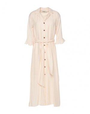 Платье миди DRY LAKE.. Цвет: бежевый