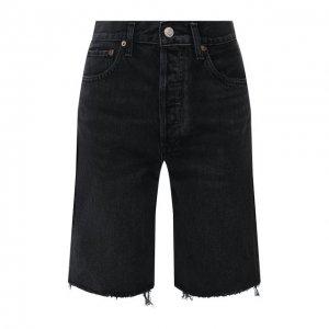 Джинсовые шорты Agolde. Цвет: чёрный