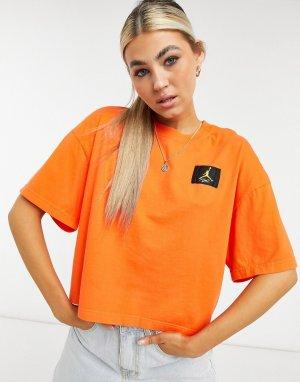 Свободная оранжевая футболка с короткими рукавами Essential-Оранжевый цвет Jordan