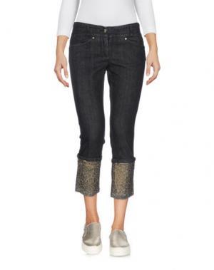 Джинсовые брюки-капри MARCIANO. Цвет: черный