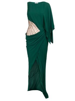 Длинное платье с драпировкой Vionnet. Цвет: зеленый