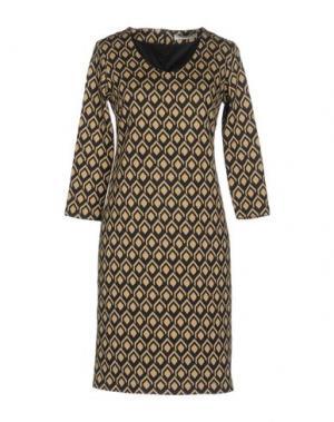 Короткое платье MARCELLO SANGIORGI. Цвет: хаки