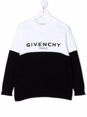 Logo-print sweatshirt Givenchy Kids. Цвет: черный