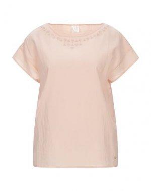 Блузка DES PETITS HAUTS. Цвет: телесный