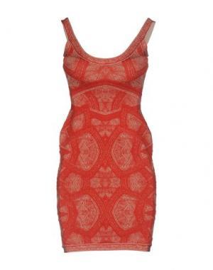 Короткое платье HERVÉ LÉGER. Цвет: красный