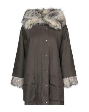 Пальто RELISH. Цвет: зеленый-милитари