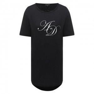 Хлопковая футболка Ann Demeulemeester. Цвет: чёрный