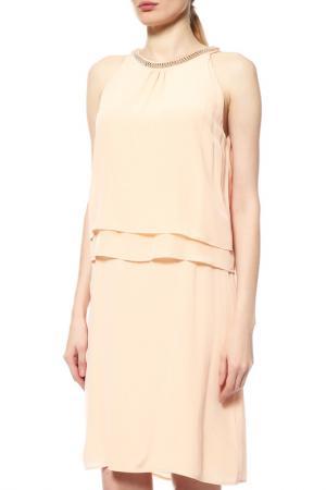 Платье Comma. Цвет: персиковый