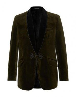Пиджак FAVOURBROOK. Цвет: зеленый-милитари