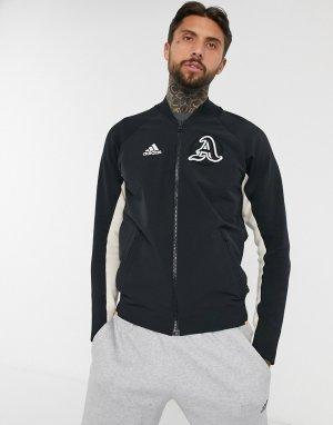 Черная куртка в университетском стиле adidas-Черный adidas performance