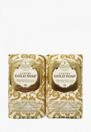 Набор для ухода за телом Nesti Dante Мыло 60th Anniversary Gold Soap / Юбилейное золотое,  2*250г. Цвет: разноцветный