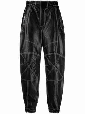 Зауженные брюки Lacey с контрастной строчкой Stella McCartney. Цвет: черный