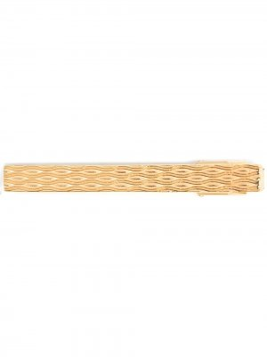 Фактурный зажим для галстука LANVIN. Цвет: золотистый