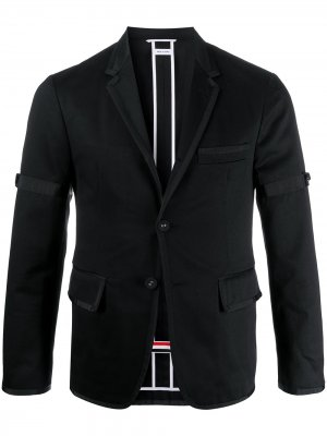 Деконструированный пиджак Thom Browne. Цвет: черный
