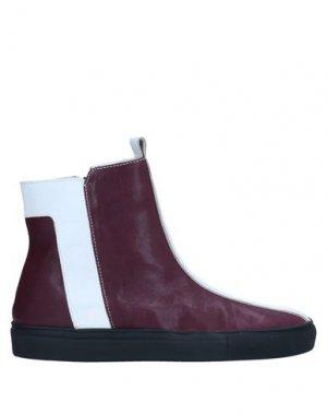 Полусапоги и высокие ботинки ALBERTO FERMANI. Цвет: баклажанный