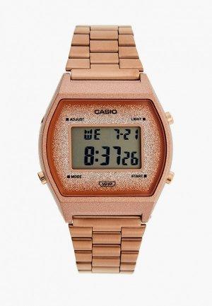 Часы Casio Collection B640WCG-5EF. Цвет: коричневый