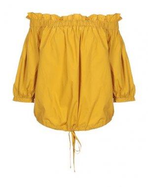 Блузка DEBY DEBO. Цвет: охра