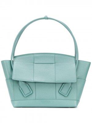 Большая сумка-тоут Arco Bottega Veneta. Цвет: синий