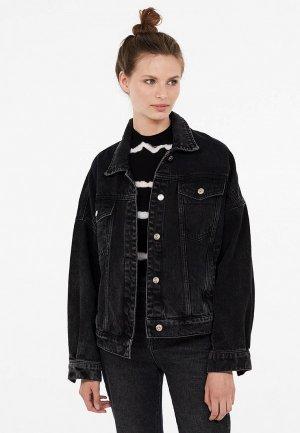 Куртка джинсовая Lime. Цвет: черный