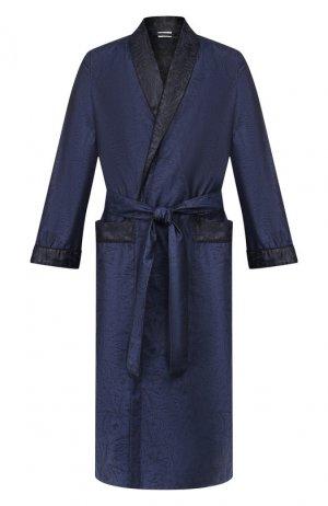 Хлопковый халат Zimmerli. Цвет: синий