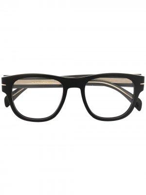 Очки DB 7025 в квадратной оправе Eyewear by David Beckham. Цвет: черный